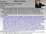 italian elections