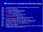 milestones in cannabinoid pharmacology