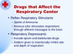 drugs that affect the respiratory center174