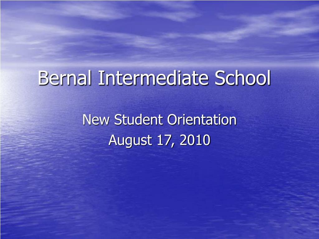 bernal intermediate school l.
