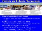 obstetric and pediatric pharmacology
