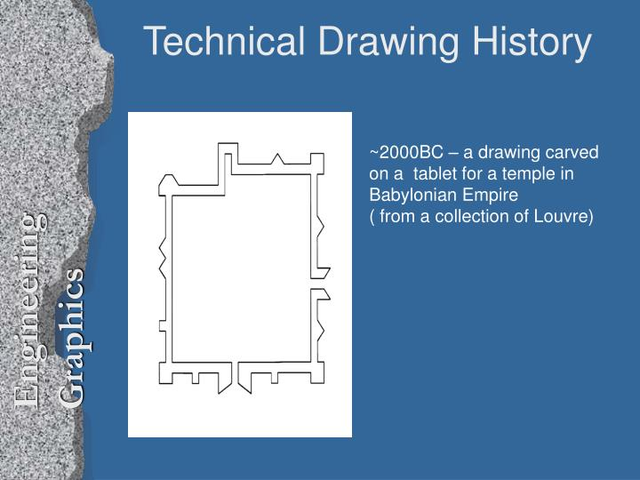 technical drawing history n.