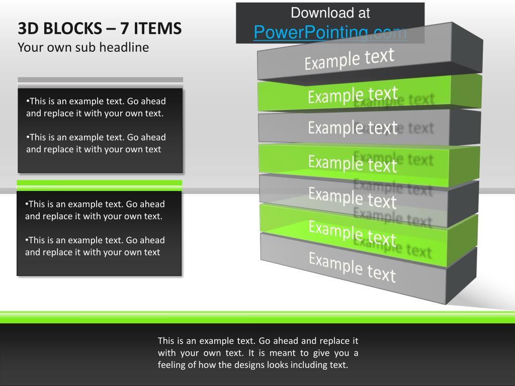 3D BLOCKS – 7 ITEMS