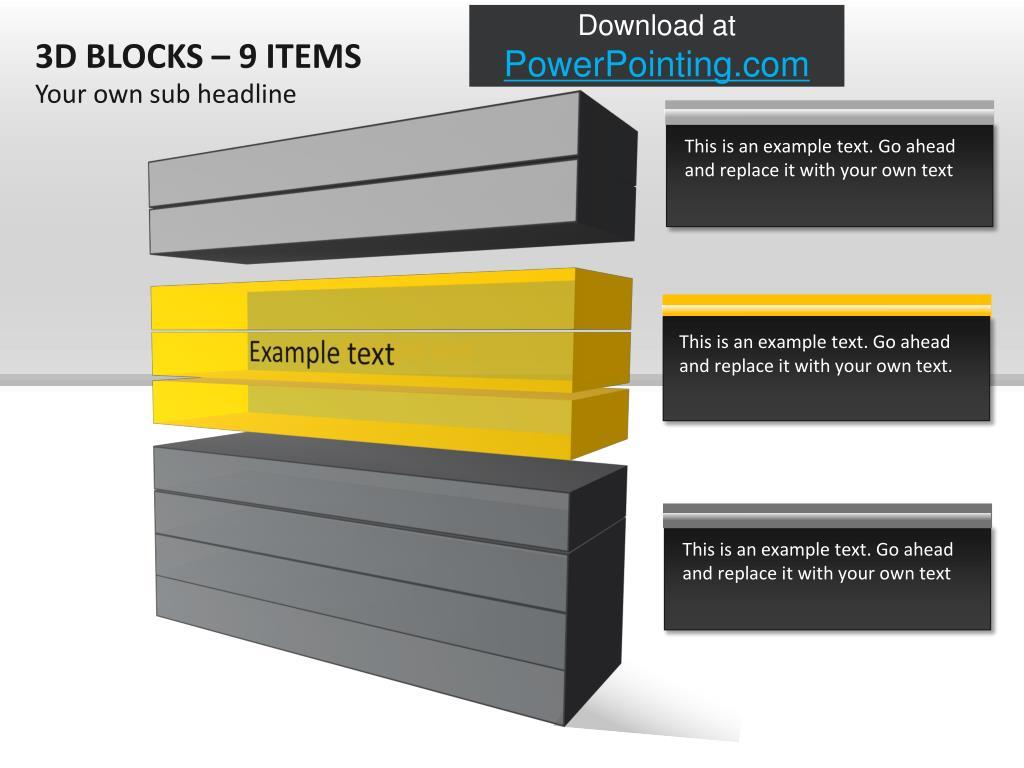 3D BLOCKS – 9 ITEMS