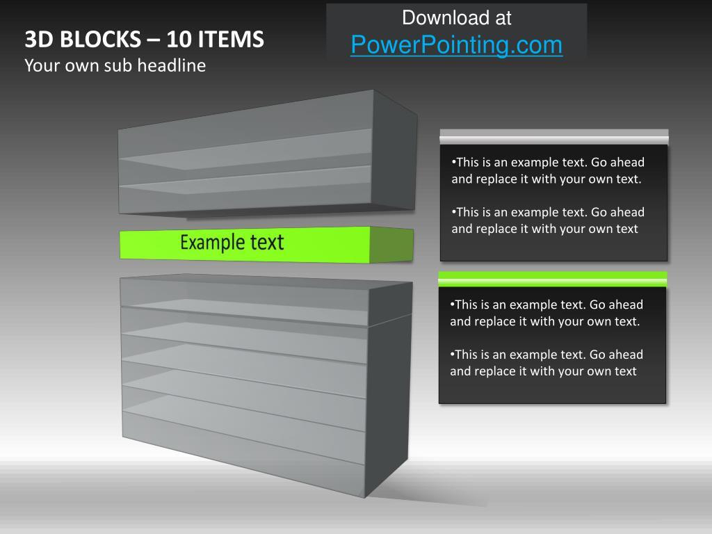 3D BLOCKS – 10 ITEMS