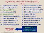 top selling prescription drugs 2003 billions