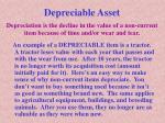 depreciable asset