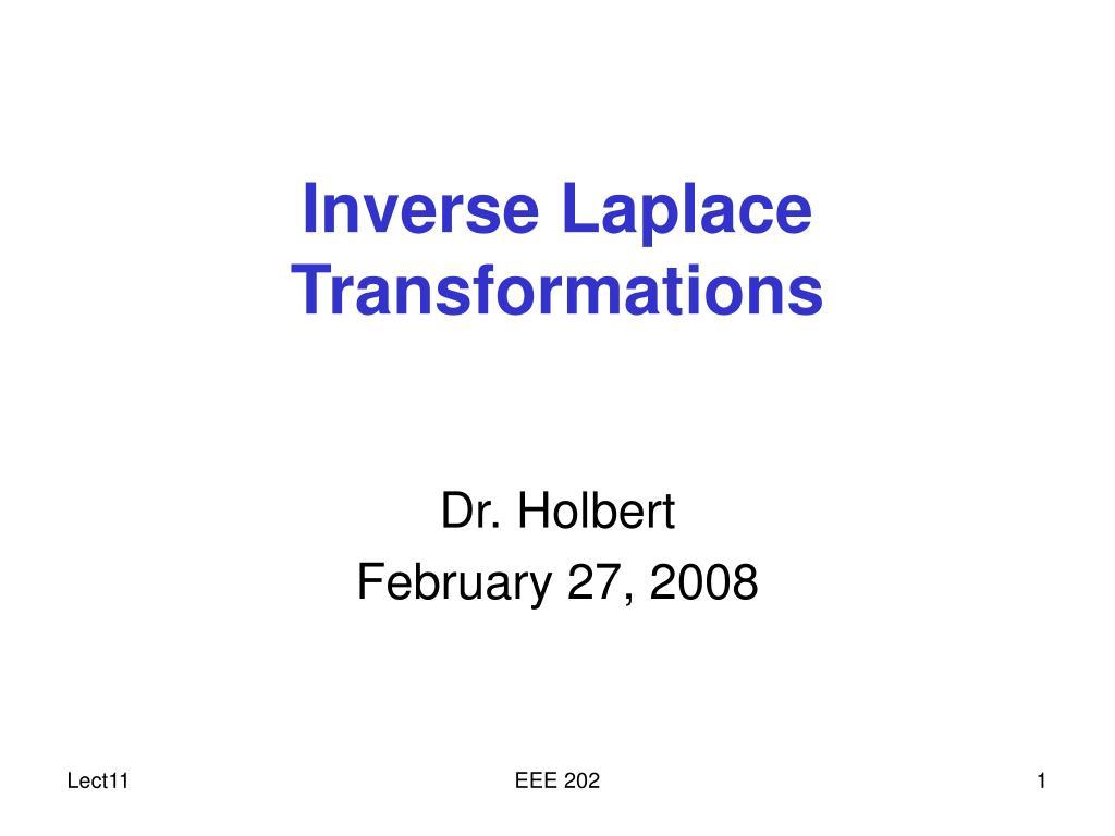 inverse laplace transformations l.