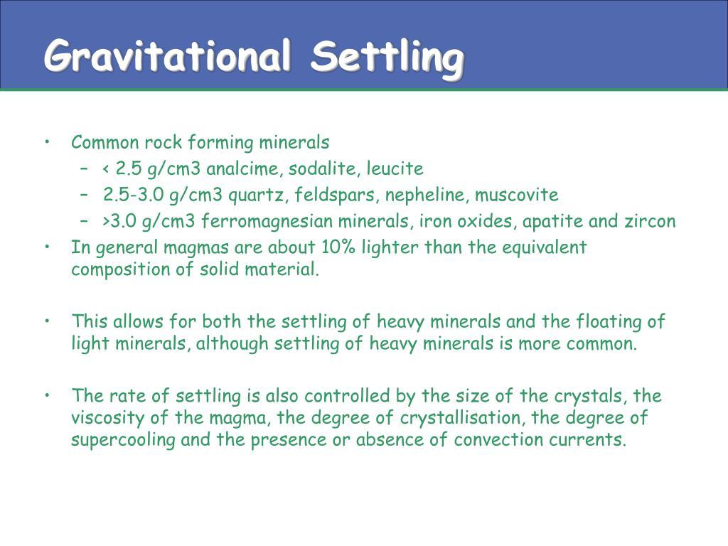 Gravitational Settling