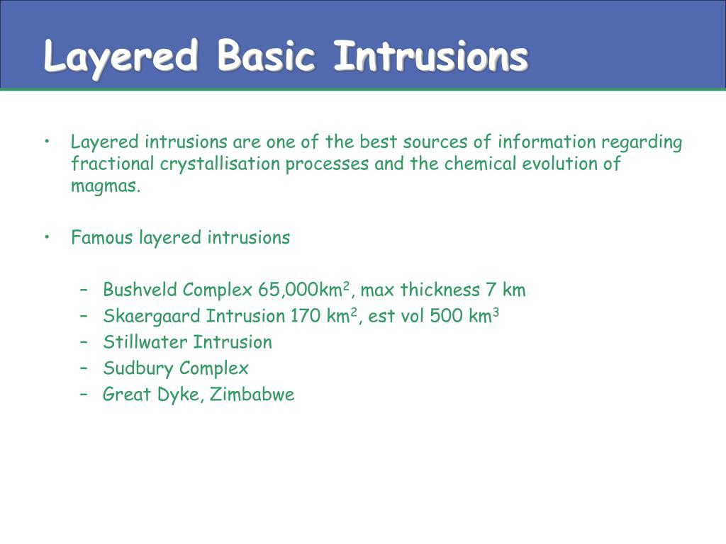 Layered Basic Intrusions