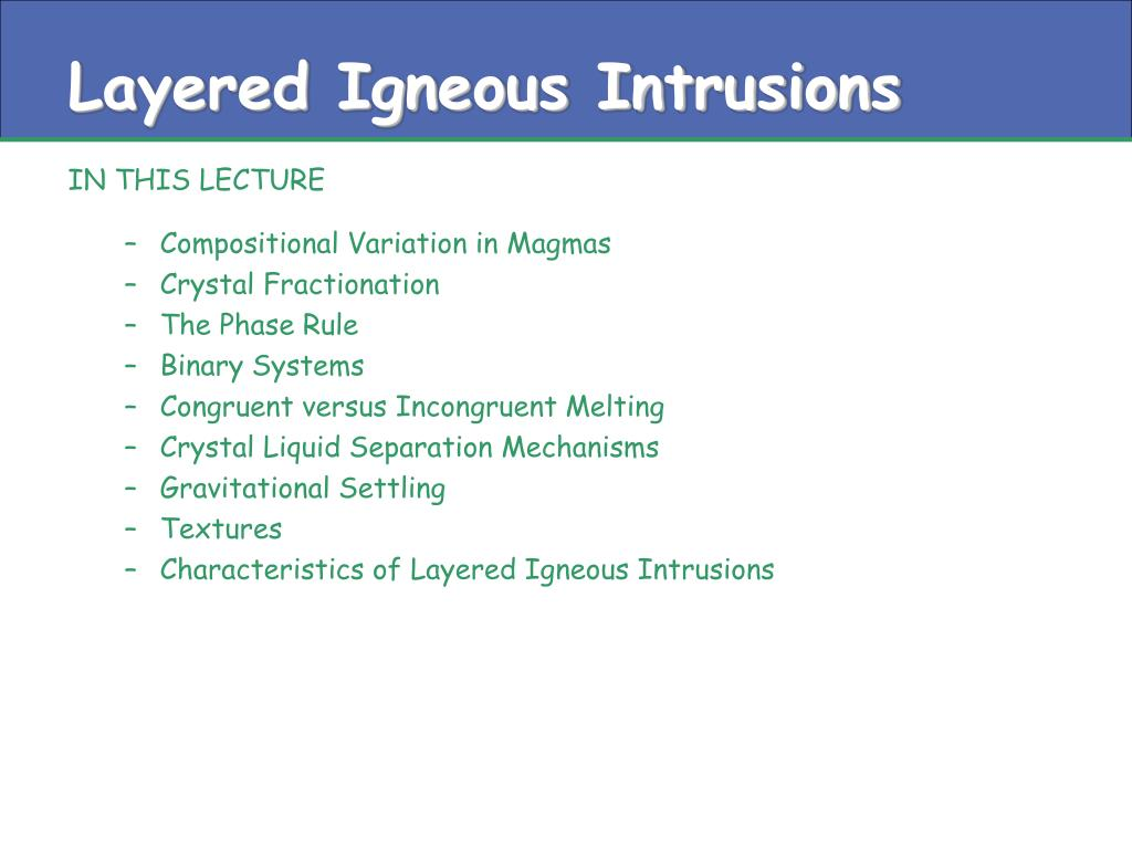 Layered Igneous Intrusions