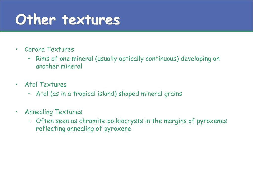 Other textures