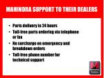 mahindra support to their dealers13