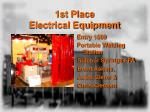 1st place electrical equipment
