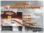 2nd place ag machinery equipment