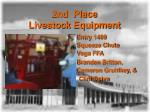 2nd place livestock equipment