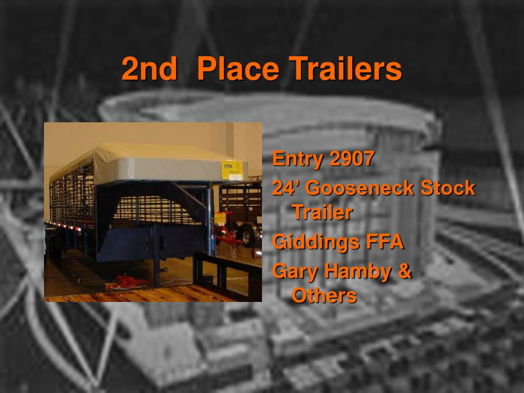 2nd  Place Trailers