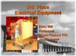 3rd place electrical equipment