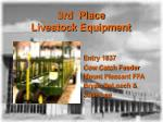 3rd place livestock equipment