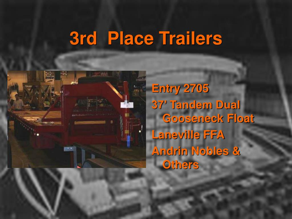 3rd  Place Trailers