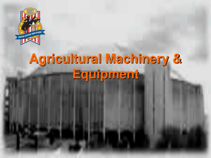 Agricultural machinery equipment