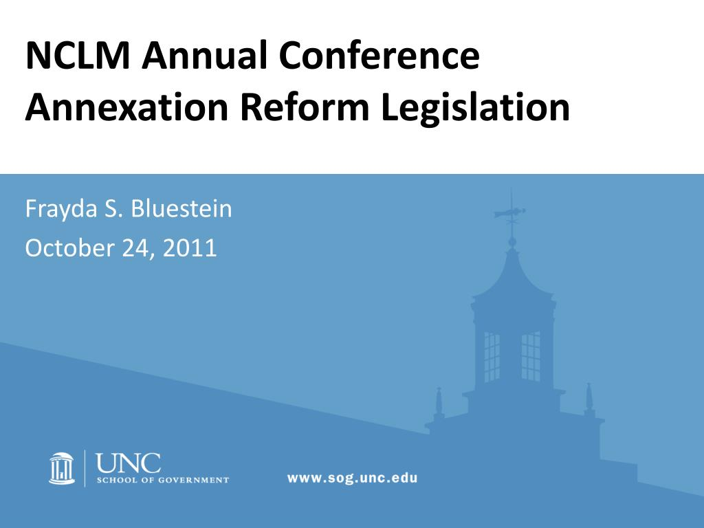 nclm annual conference annexation reform legislation