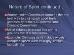nature of sport continued8