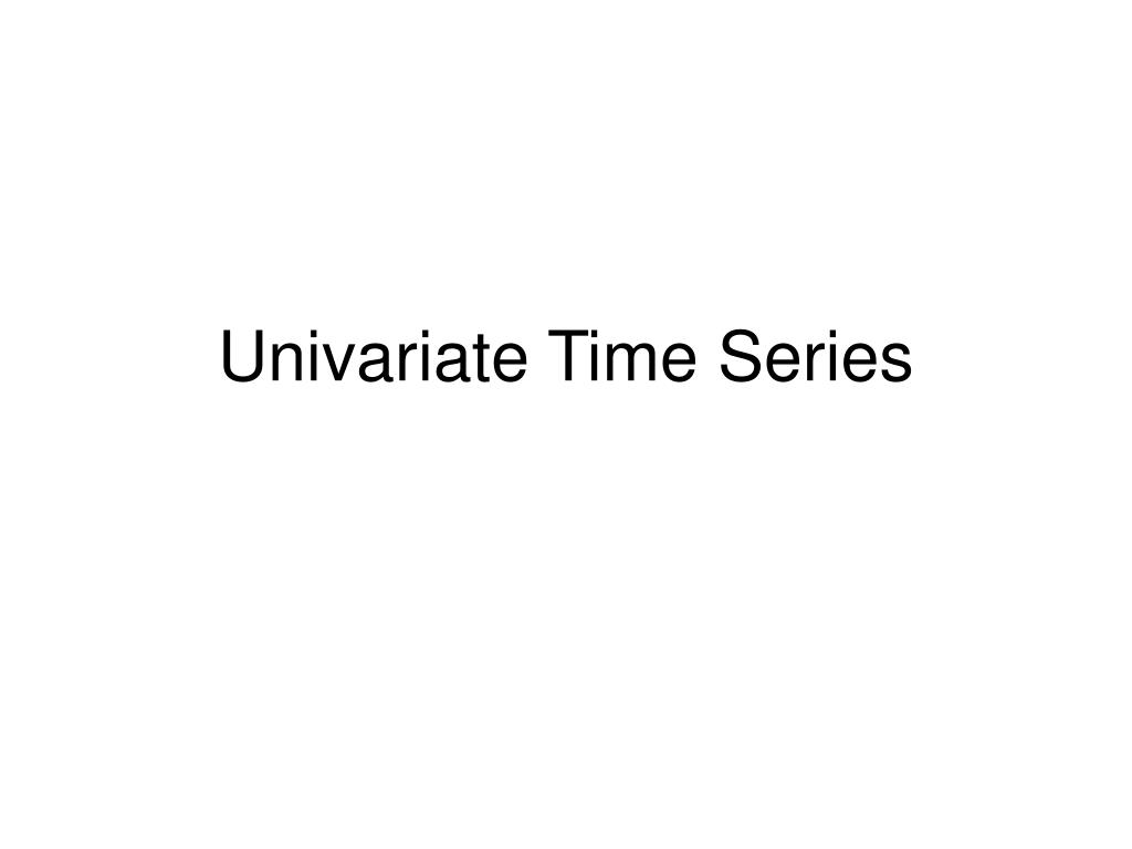 univariate time series l.