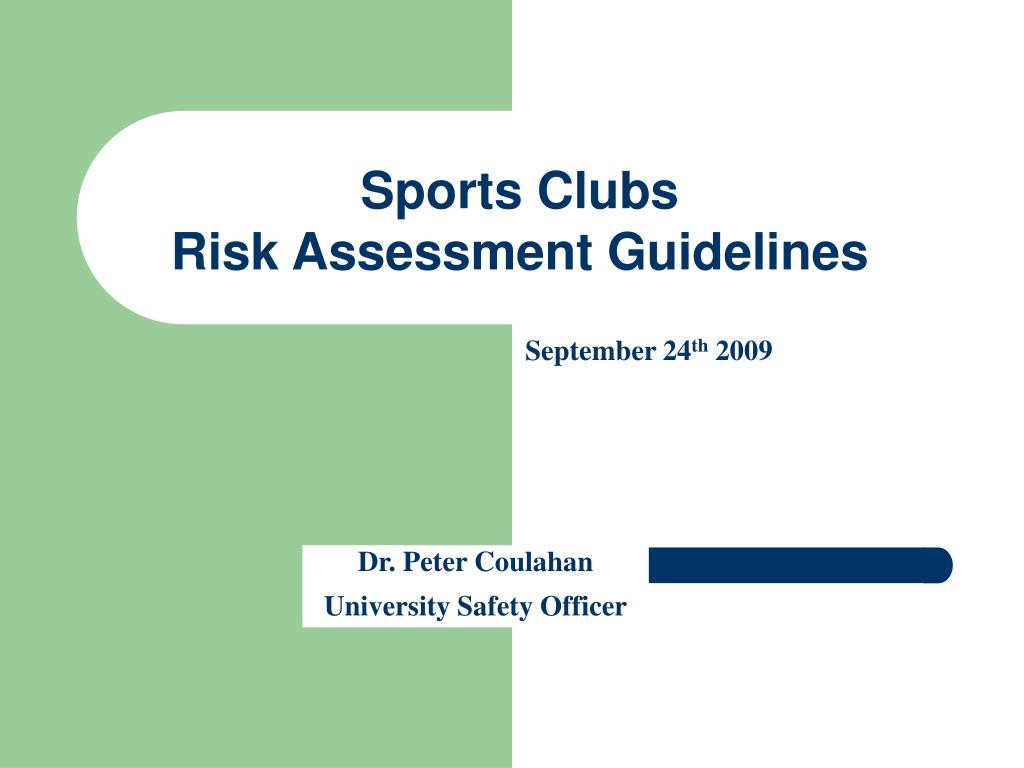 sports clubs risk assessment guidelines l.
