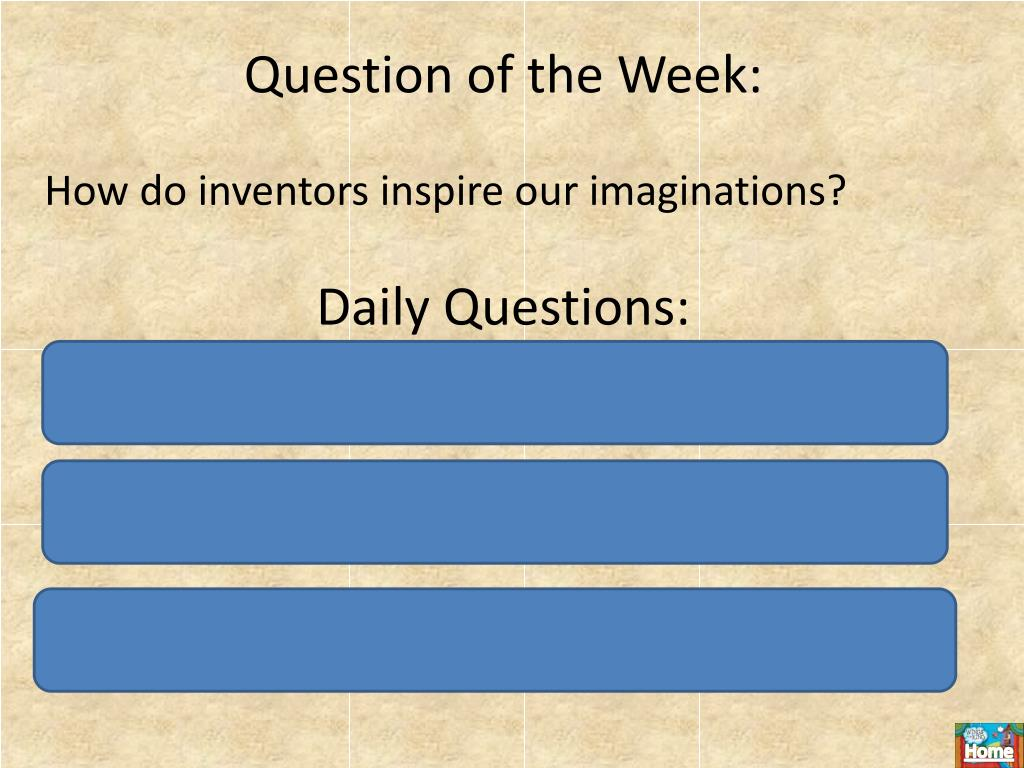 Question of the Week: