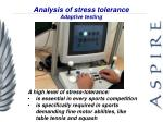 analysis of stress tolerance adaptive testing