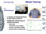 mental training
