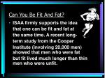 can you be fit and fat
