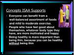 concepts isaa supports