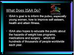 what does isaa do