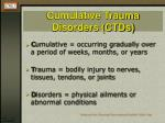 cumulative trauma disorders ctds