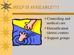 help is available 1