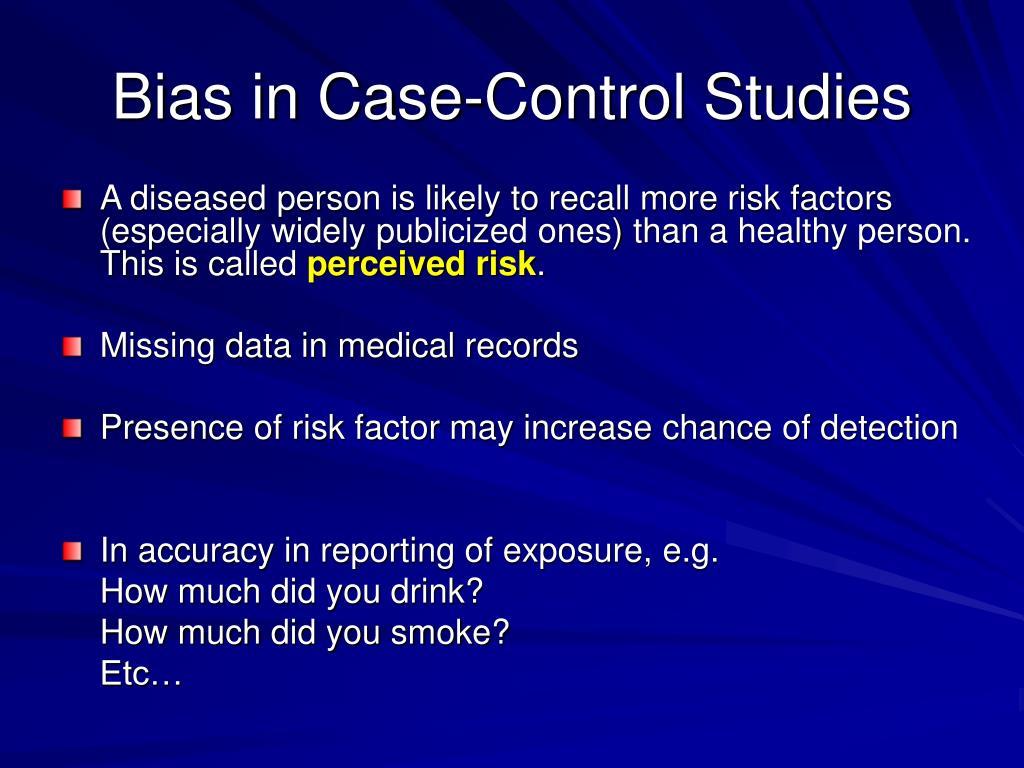 Bias in Case-Control Studies