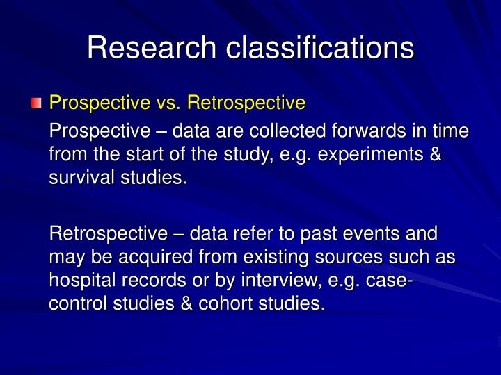 Research classifications3