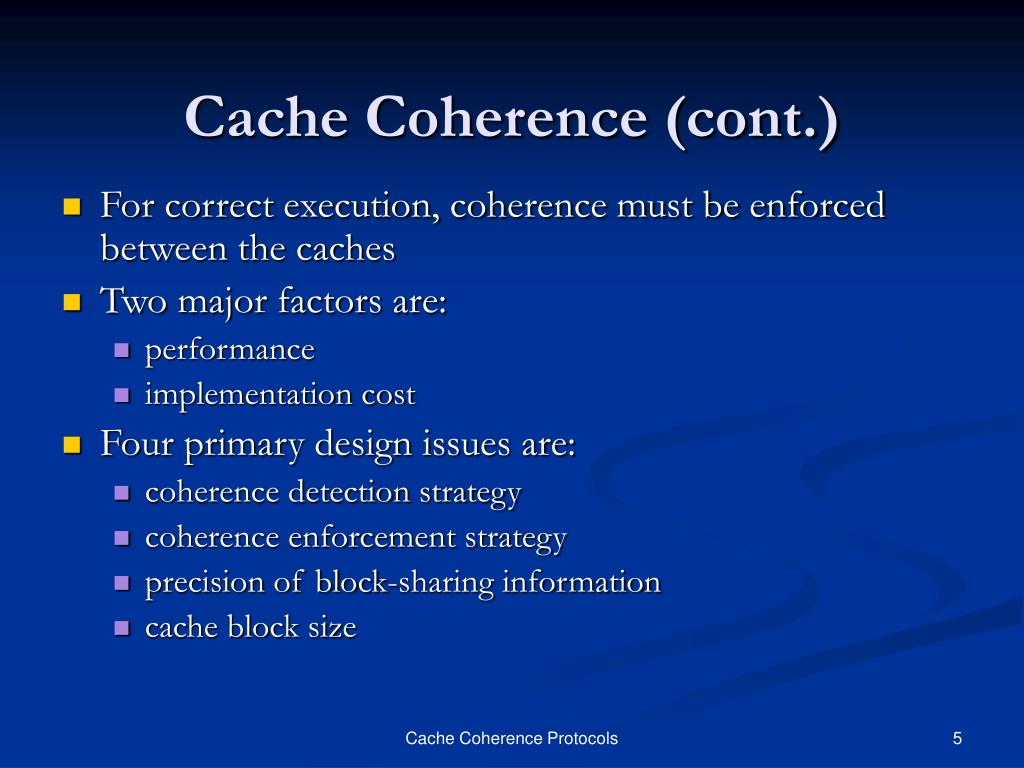 Cache Coherence (cont.)