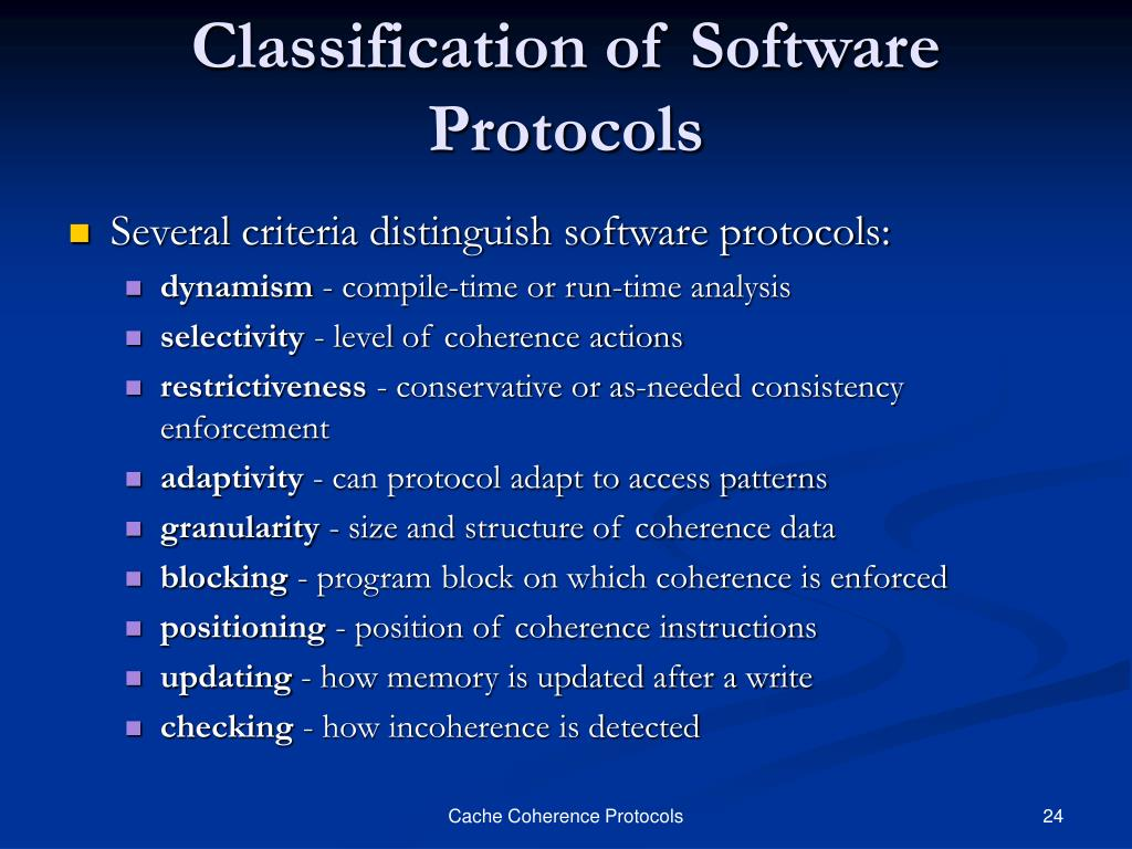 Classification of Software Protocols