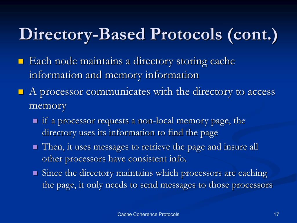 Directory-Based Protocols (cont.)