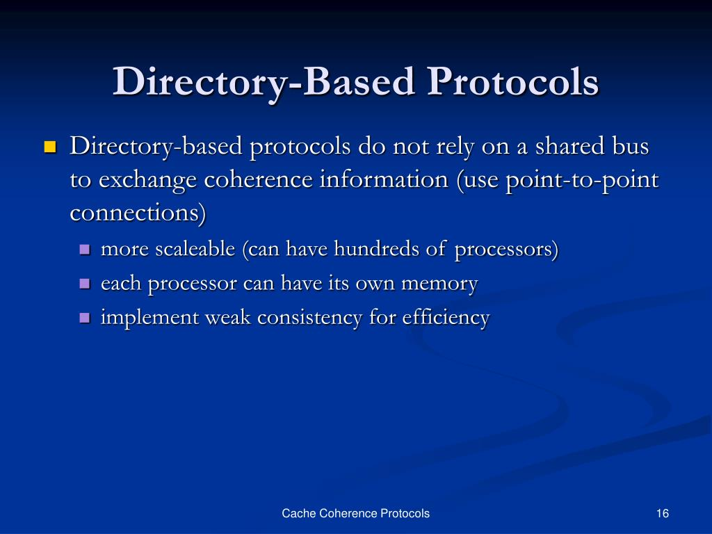 Directory-Based Protocols