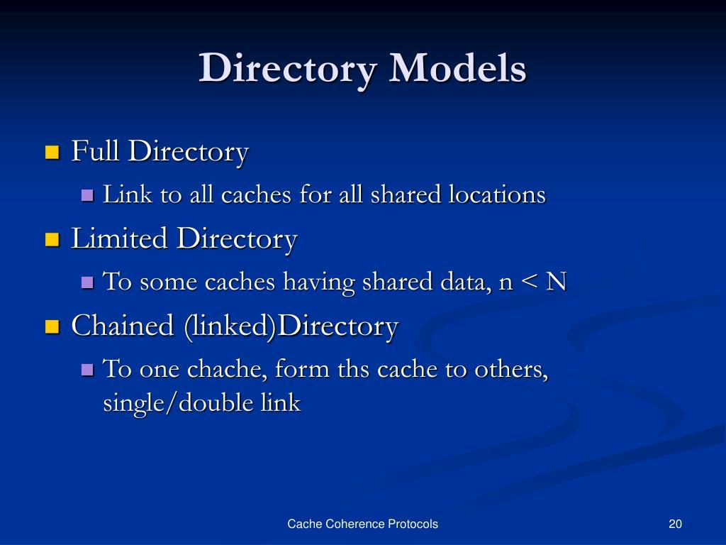 Directory Models