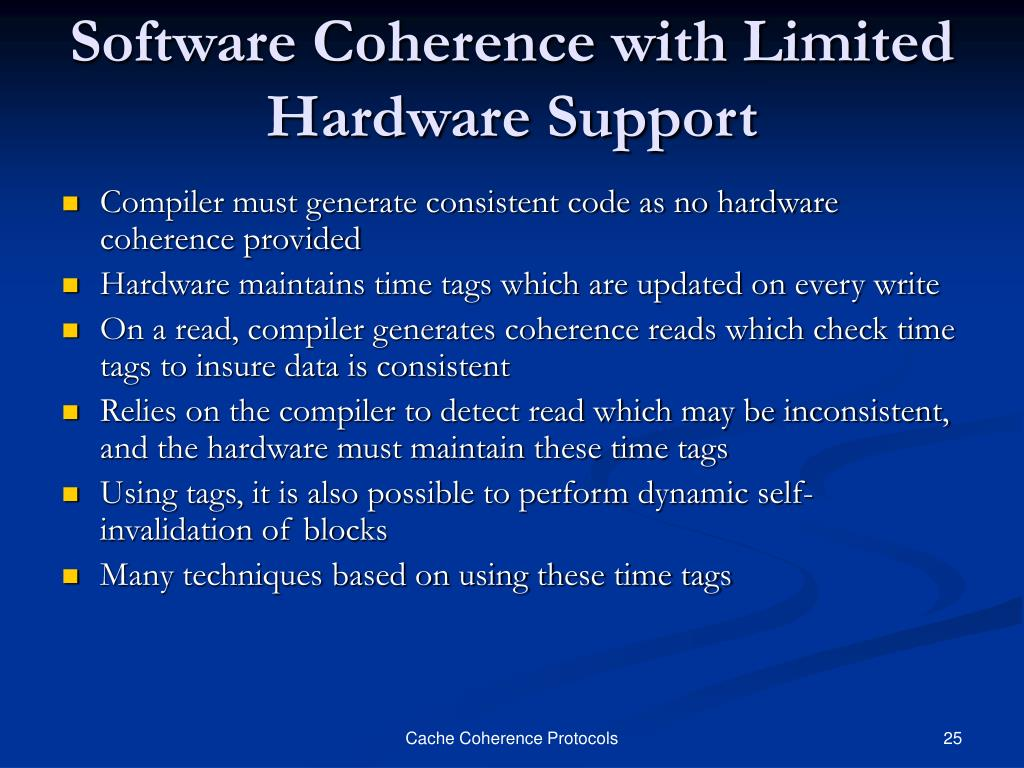 Software Coherence with Limited Hardware Support