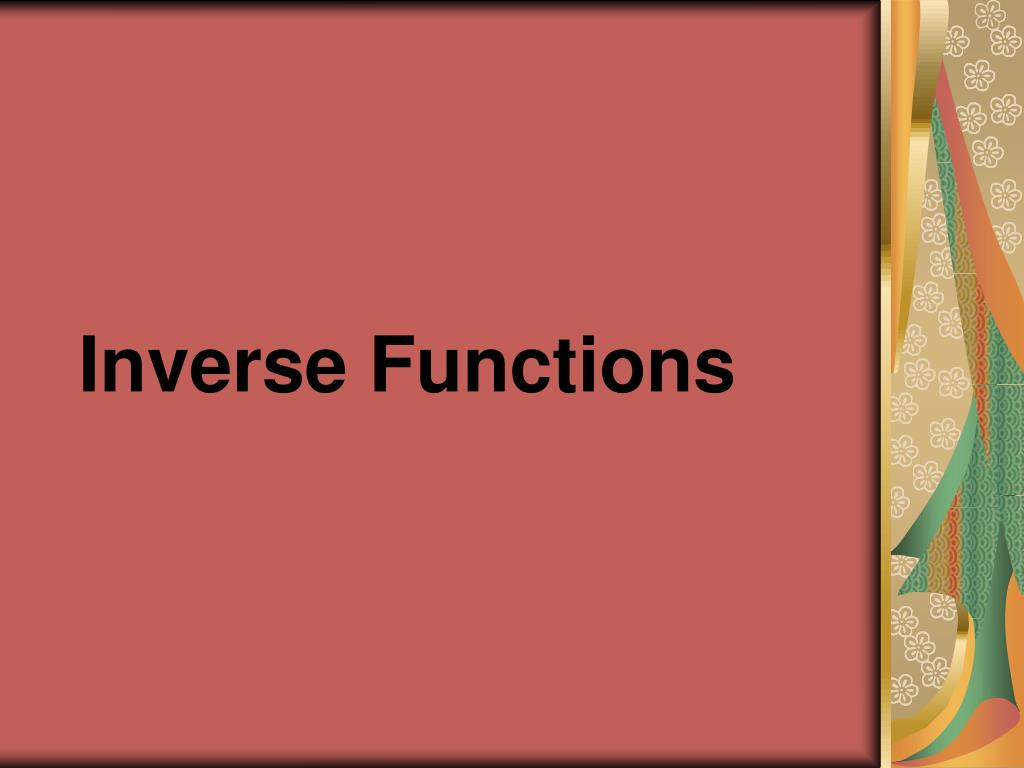 inverse functions l.