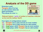 analysis of the dd game
