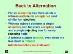 back to alternation
