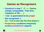 games as recognizers14