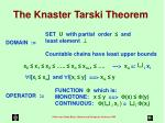 the knaster tarski theorem